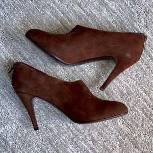 J Crew Bronson bootie in brown suede size 8